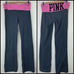 VS PINK Foldover Rhinestone Bling Yoga Pants